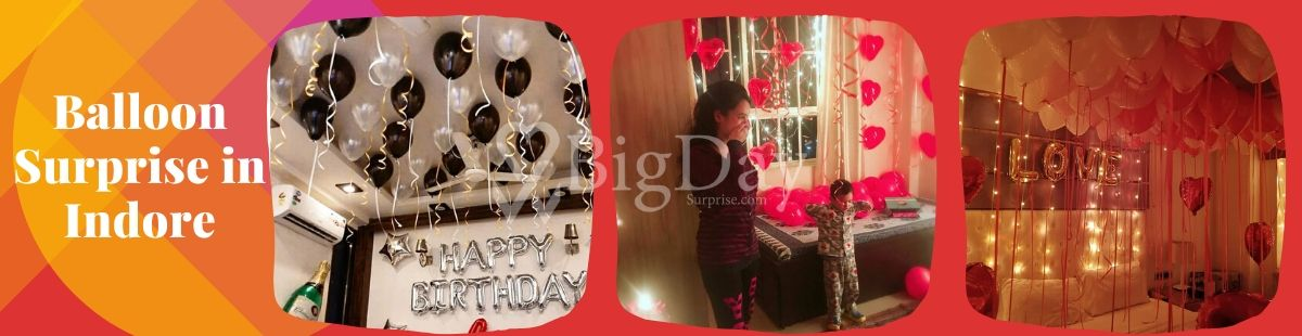 Balloon Surprise in Indore Big Day Surprise
