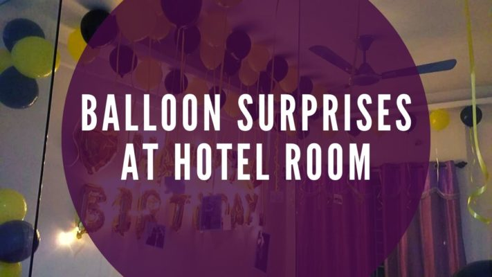 Balloon Surprises at Hotel Room